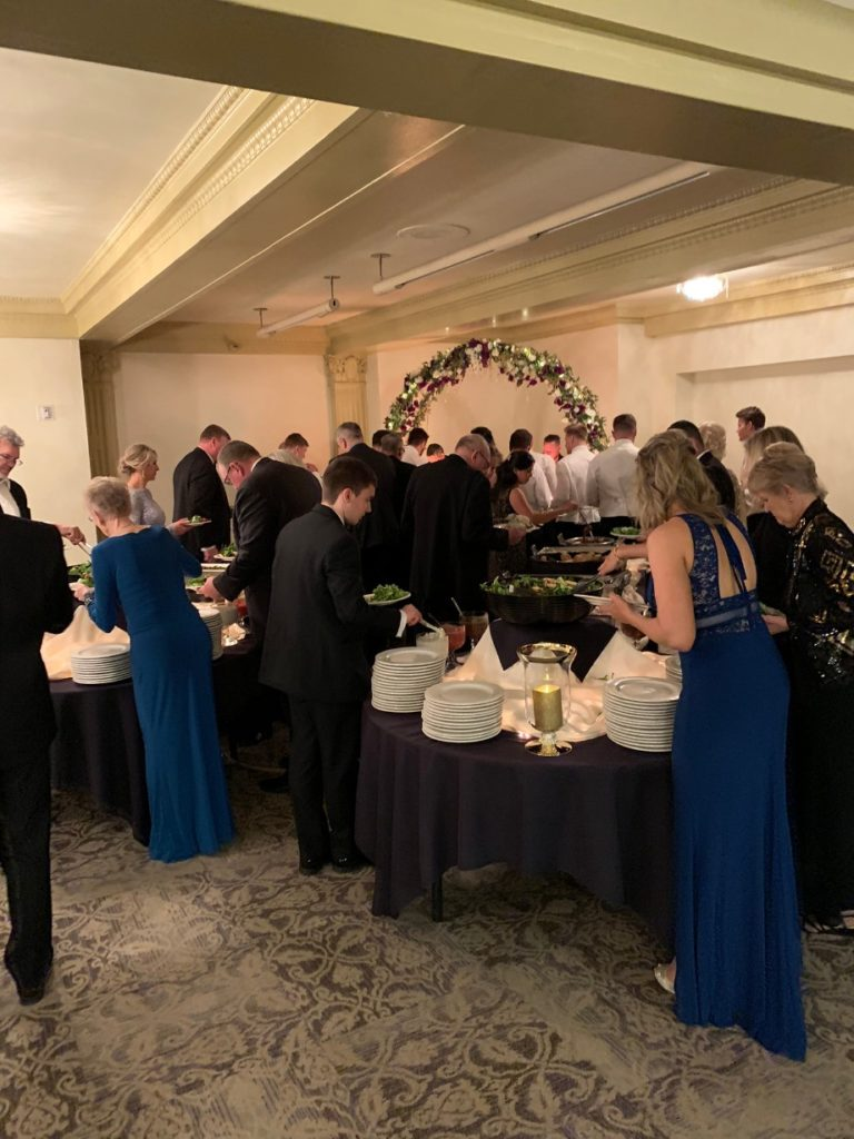 People eating at Wedding Reception